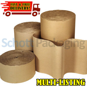 CORRUGATED CARDBOARD PAPER ROLL ✔ ALL WIDTHS & SIZES - VALUE STRONG Packaging