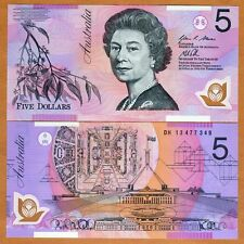 Australia, $5, 2013, Polymer, P-57h, QEII, UNC > New date and signature