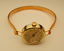 Vtg NOS New Lucerne Womens Mechanical Bangle Watch NOS 1970s Manual Wind