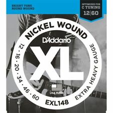 D'Addario EXL148 Nickel Wound Electric Guitar strings 12-60