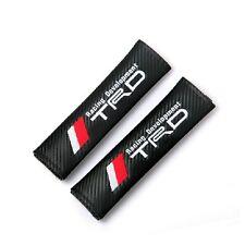2 Carbon Fiber Embroidery Seat Belt Shoulder Pad Cushions T RACING DEVELOPMENT