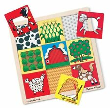 Melissa & Doug FARM PEEK THROUGH WOODEN PUZZLE