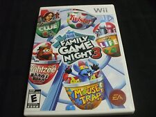Replacement Case (NO GAME) FAMILY GAME NIGHT 3  NINTENDO WII