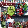 Marvel Avengers Birthday Party Tableware Superhero Plates Napkins Supplies
