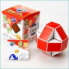 HMQC Puzzle Twist Puzzle Toy Magic Snake Shape Toy Game 3D CUBE  Red White