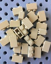Lego Tan 1x2 Grill Profile Brick Wall Modular Buildings Castle 25pcs