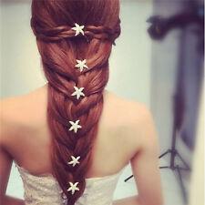 6pcs fille étoiles de mer tresse cheveux coiffure mariage accessoires