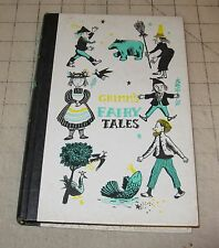 1954 GRIMM'S FAIRY TALES Hard Cover Book - Nelson Doubleday Publishing