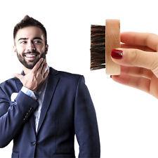 Brosse à Barbe en Poils de Sanglier 100% Naturel Ronde Homme Barbu Beard Neuf