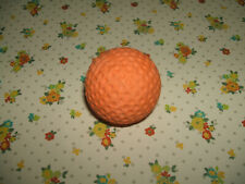 Rare Vintage 1980s Large Lifelike Orange Golf Ball eraser rubber gomme gommine