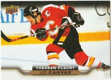 THEOREN FLEURY 17-18 UPPER DECK UD CANVAS RETIRED STARS # C252 FLAMES SP 2017-18