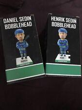 DANIEL And HENRIK SEDIN 1K 1000 Nhl Points BOBBLEHEAD Set Lot VANCOUVER CANUCKS
