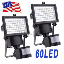 2pcs Solar Powered 60 LED Outdoor Garden Motion Sensor Security Flood Spot Light