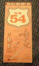 c1950s US Highway 54 route map - Mid-America's Diagonal Boulevard