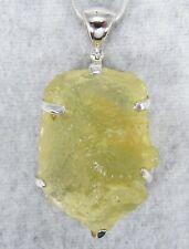 LIBYAN DESERT GLASS PENDANT $229 Tektite 925 Sterling Jewelry STARBORN LG229-P4