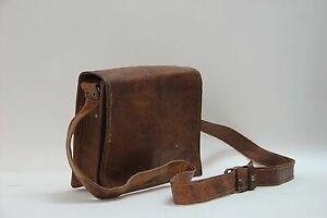 New Mens Genuine Leather Vintage Messenger Handmade Briefcase Laptop Bag Satchel