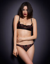 Agent Provocateur AMELIAH BRA 32C & BRIEF AP Size 2 in BLACK/RED LACE - BNWT