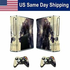 Sticker Decal Protectors Cover Skin for Xbox360 Slim Console & 2Controller Wired