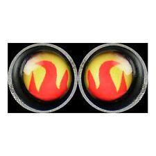 Phoenixx Rising Pair Of Yellow Red Flame Ear Stud Earrings Piercing Jewellery