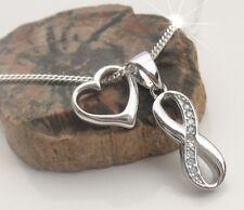 Infinity Anhänger Herz Kette Liegende acht Unendlichkeit ewige Liebe 925 Silber