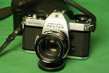 Pentax Spotmatic SPII 35mm SLR Film Camera w/ two lenses 55mm & 135mm MINT-