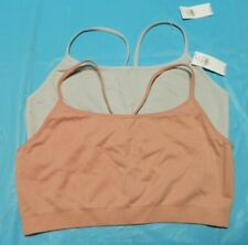 Old Navy Women's Seamless Lounge Bra / Bralette Lot of 2 Pink & Gray Large NWT