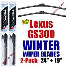 WINTER Wiper Blades 2-Pack Super-Premium fit 2006 Lexus GS300 - 35240/190