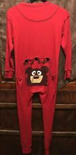 LAZY ONE ~ Adult XS ~ Red Union Suit BEAR BUTT ~ Poop Shoot Door Pajamas PJs