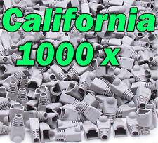 Lot 1000 X Pcs Gray Plug End Cap Boot Cable Cat5 Cat5E Cat6 Rj45 8P8C Connector