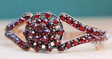 Antique Victorian Bracelet Bohemian Garnet Bangle Jewelry Jewellery Old Maiden