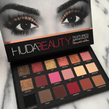 2018 NEW HUDA BEAUTY Rose Gold Edition Textured Eye Shadow Palette 18 Colours UK