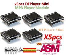 5pcs DFPlayer Mini MP3 Player Modulo MP3 Voice Modulo TF Card and USB Disk
