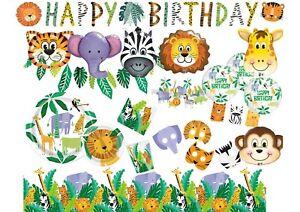 Animal Safari Jungle Lion Zebra Birthday Party Supplies Tableware Decorations