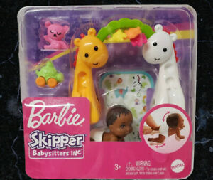 NEW Barbie Skipper Babysitters Inc Crawling & Playtime Playset w/ Baby Doll Toy