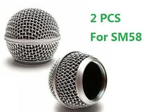 2 Pcs Metal Screen Ball Head Microphone Grille Rk143g for Microphones