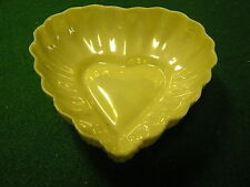 """Great BELLEEK  4"""" HEART BOWL 3rd Green Mark/6th Period...SALE...FREE POSTAGE USA"""