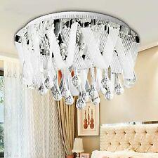 77381250 Salón Comedor Habitación Lámpara Techo K9 Cristal Acero Inoxidable