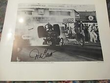 BIG DADDY DON GARLITS SWAMP RAT 13  ACCIDENT SIGNED AUTOGRAPH  DRAG RACING