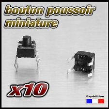 985/10# bouton poussoir pour circuit imprimé lot de 10pcs BP CI  4,5 x 4,5mm