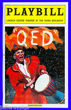 Playbill + QED + Opening Night + Alan Alda + Written by Peter Parnell