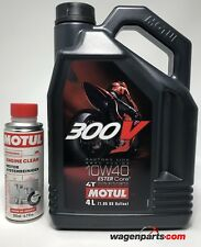 Aceite Motos 4TMotul 300V FL Road Racing 10W40, duo 4 litros- Engine Clean 200ml