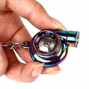 Neo Turbo Keychain Keyring Rainbow LED Light BOV Sound Turbocharger Car Drift UK
