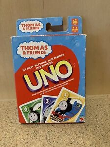 Mattel Thomas & Friends My First UNO King Size Card Game Train Preschool, Preown