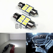2x DE3175 31mm Festoon LED Blubs 5730 SMD Error Free Canbus Dome Map Light White