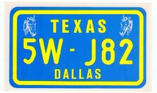 figurina U.S.A. TARGHE NUMBER PLATES EDIZIONE FIGURINA CLUB NEW TEXAS
