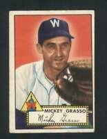1952 Topps #90 Mickey Grasso VGEX Senators 109318