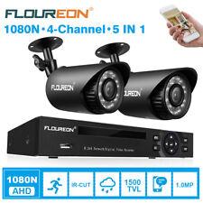 5 in 1 TVI 1080n HDMI DVR 1500tvl Outdoor CCTV Home Video Security Camera System