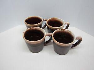 4 Vintage McCoy Drip Glaze Mugs 8-oz