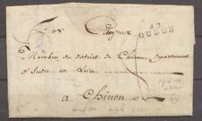 1795 Lettre Marque Linéaire 42 Oudon LOIRE-INFERIEURE(42) Ind 21 X1328