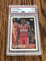 1996 Topps Allen Iverson PSA 9 Mint RC 76ers Rookie #171